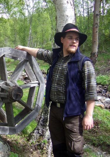 Oskar och vattenhjul