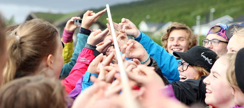 Kul samarbetsövningar ingår som en viktig del i Fjällkonfa. Kom med och testa om du har vad som krävs :-)?